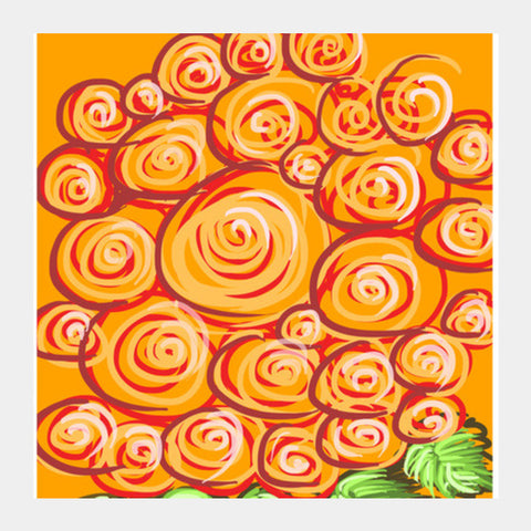 Square Art Prints, Swirls and flowers ! Square Art Prints | Artist : Shakthi Hari, - PosterGully