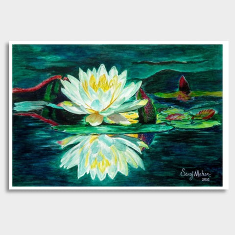 Water Lily Giant Poster | Artist : Saroj Meher