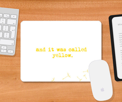 Yellow - Coldplay! Mousepad | Artist : Yash Guwalani