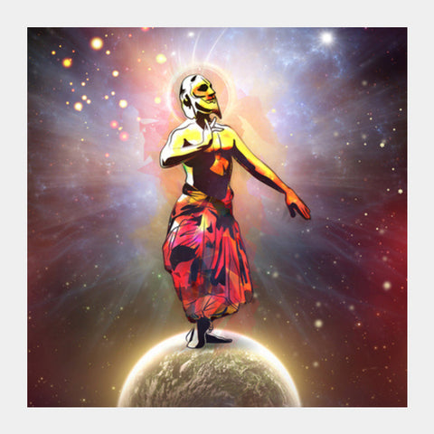 Dance Above The Surface Of The World Square Art Prints | Artist : Archana Aravind