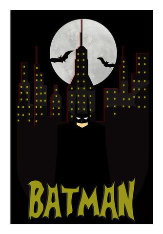 Minimal Batman Art PosterGully Specials