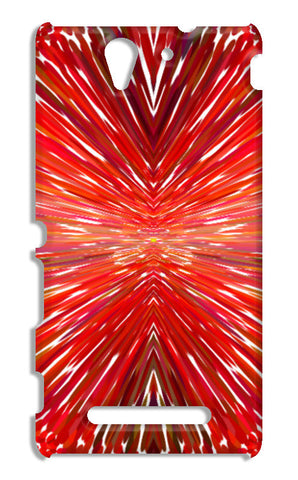 Abstract Red Burst Modern Design Sony Xperia C3 S55t Cases | Artist : Seema Hooda