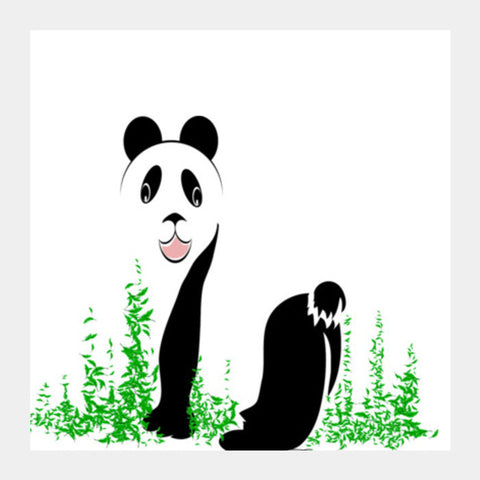 THE PANDA is a symbol of gentleness and strength. it is an auspicious symbol of peace, harmony Square Art Prints | Artist : amit kumar