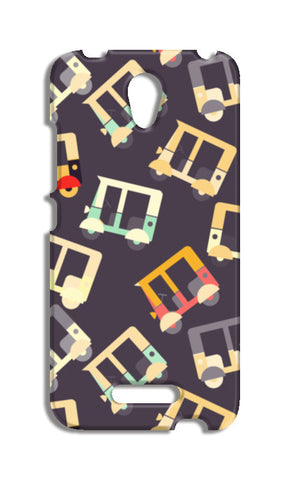Auto rickshaw quirky pattern Redmi Note 2 Cases | Artist : Designerchennai