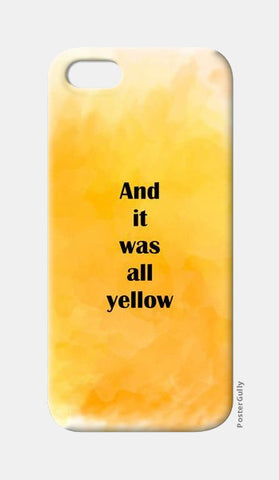 COLDPLAY : YELLOW iPhone 5 Cases | Artist : Kau.Vish