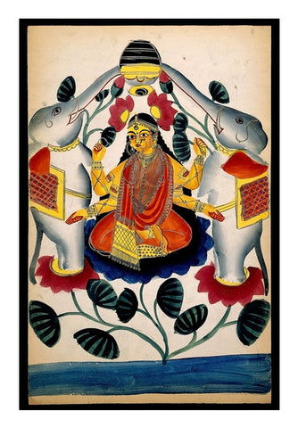 Lakshmi purified by two elephants Wall Art | Artist : Scatterred Partikles