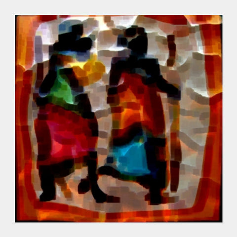 Square Art Prints, Abstract Painting Square Art Prints | Artist : CK GANDHI, - PosterGully
