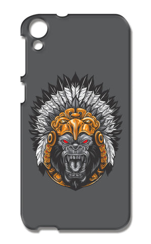 Gorilla Wearing Aztec Headdress HTC Desire 820 Cases | Artist : Inderpreet Singh