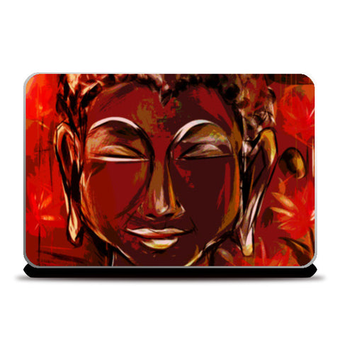 BUDDHA Buddhism teaches people that the real source of happiness is inner peace Laptop Skins | Artist : amit kumar