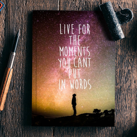 Live today carpe Diem travel wanderlust adventure quotes  Notebook | Artist : Gauri Deshpande