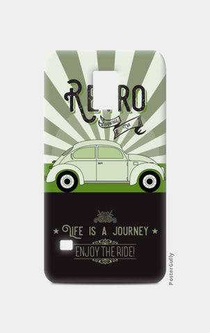 Retro vintage car on green Samsung S5 Cases | Artist : Designerchennai