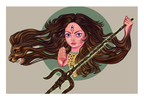 Wall Art, Durga Wall Art | chaitanya kumar, - PosterGully