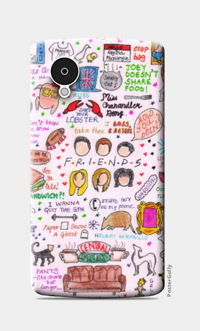 Nexus 5 Cases, Friends Doodle Nexus 5 Case | Artist: Keya Shah, - PosterGully