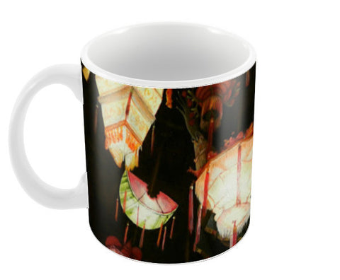 Chinese Lanterns  Coffee Mugs | Artist : Tara Isha