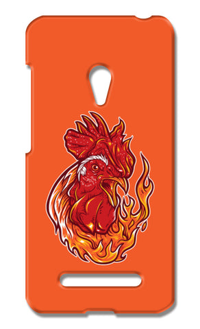 Rooster On Fire Asus Zenfone 5 Cases | Artist : Inderpreet Singh