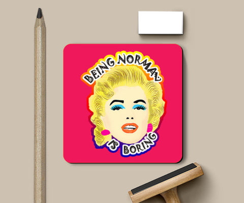 Marilyn Monroe Quote Coasters | Artist : Design_Dazzlers