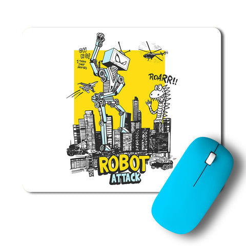 Robot Attack Intricate Artwork Mousepad