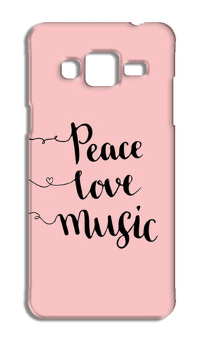 Peace Love Music Samsung Galaxy J3 2016 Cases | Artist : Inderpreet Singh