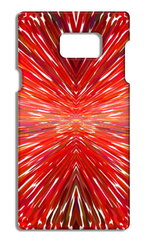 Abstract Red Burst Modern Design Samsung Galaxy Note 5 Cases | Artist : Seema Hooda