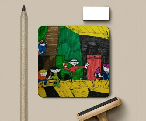 Coasters, kids next door coaster | artist : Gaurav Sahu, - PosterGully