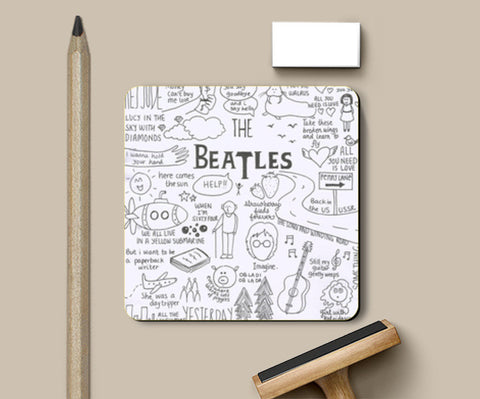 Coasters, The Beatles coaster Coasters | Artist : Anjali Nilakantan, - PosterGully