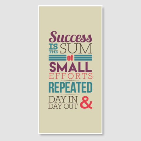 Success Typography Door Poster | Artist : Stuti Bajaj