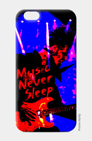 iPhone 6 / 6s, Music Never Sleep iPhone 6 / 6s Case | Artist: Boys Theory, - PosterGully