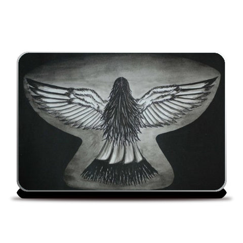 The Girl With Wings Laptop Skins | Artist : Parvathi Arun