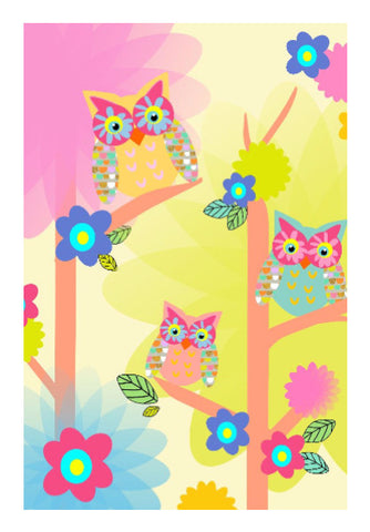 Wall Art, owl pattern wall art | Artist: Devina Jain, - PosterGully