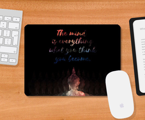 Buddha Quote - Motivational!! Mousepad | Artist : Dolly P