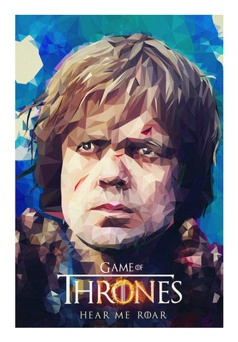 Wall Art, Hear me roar - Tyrion Lannister Polygon Portrait Wall Art | cuboidesign, - PosterGully
