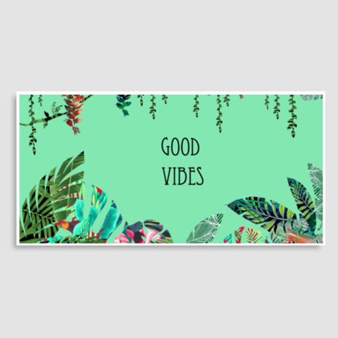 Good Vibes, a fresh look to your wall with tropical prints  Door Poster | Artist : All the randomness