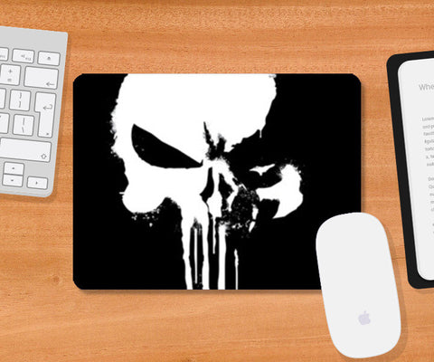 Punisher Skull War Paint Mousepad | Artist : Lobo Mousepad | Artist : Lobo