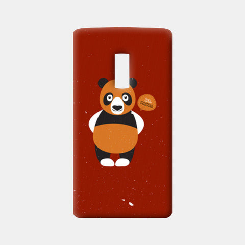 Panda On Red One Plus Two Cases | Artist : Designerchennai
