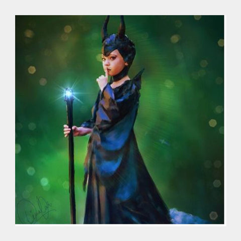 Square Art Prints, Maleficent Square Art | Divakar Singh, - PosterGully
