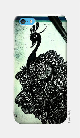 iPhone 5c Cases, Peacock-Zentangled iPhone 5c Cases | Artist : Surabhi Jha, - PosterGully