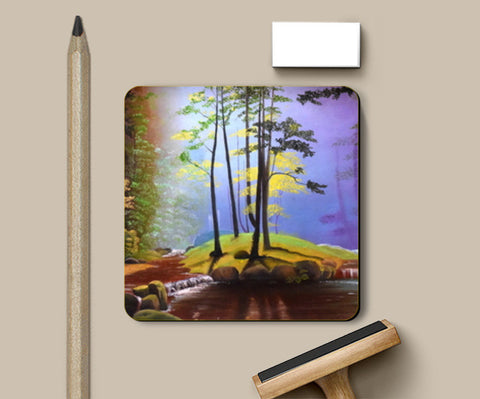 Forest Oil Painting Coasters | Artist : Rahul Tanwar