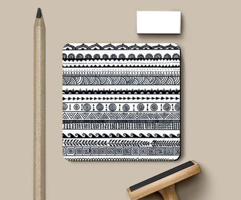 PosterGully Coasters, aztec Coasters | Artist : The Doodler dentist, - PosterGully