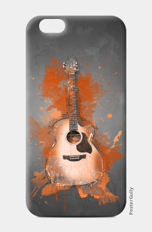 Guitar Splash – Orange iPhone 6/6S Cases | Artist : Darshan Gajara's Artwork