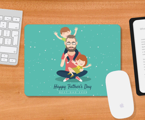 Kids Playing With Dad | #Father's Day Special  Mousepad | Artist : Creative DJ