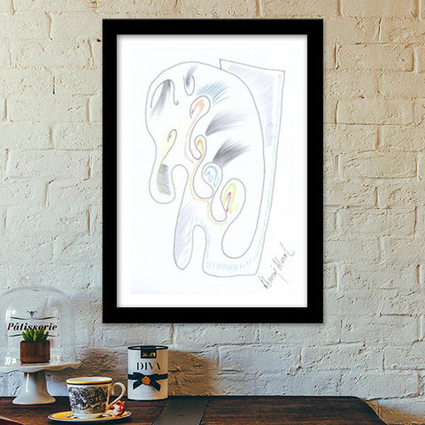 The Baby Elephant Premium Italian Wooden Frames | Artist : Dheeraj Abrol