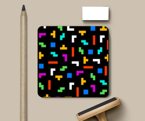 PosterGully Coasters, Tetris Life Coasters | Artist : 8bitbaba, - PosterGully