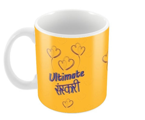 Ultimate Sanskari Coffee Mugs | Artist : Tiny Dots