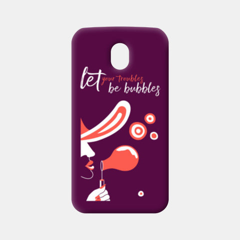 Troubles be bubbles Moto G3 Cases | Artist : Vishali Bawa