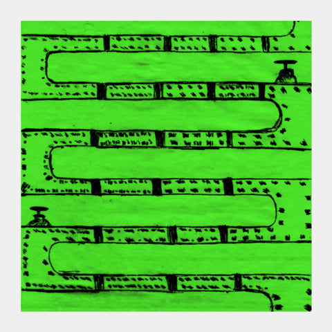 Pipeline Green Square Art Prints | Artist : prat