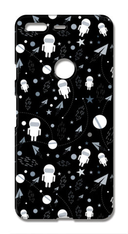 Astronaut black and white Google Pixel XL Cases | Artist : Designerchennai