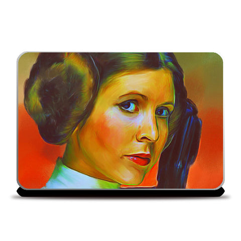 Carrie Fisher Laptop Skins | Artist : Delusion