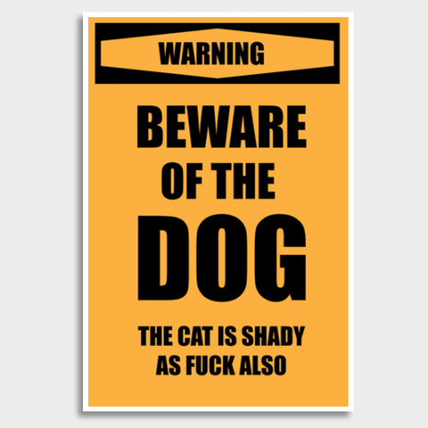 Beware of Dog Giant Poster | Artist : Scatterred Partikles