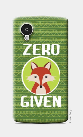 Nexus 5 Cases, Zero Fox Given Nexus 5 Cases | Artist : Random Chinese Friend, - PosterGully