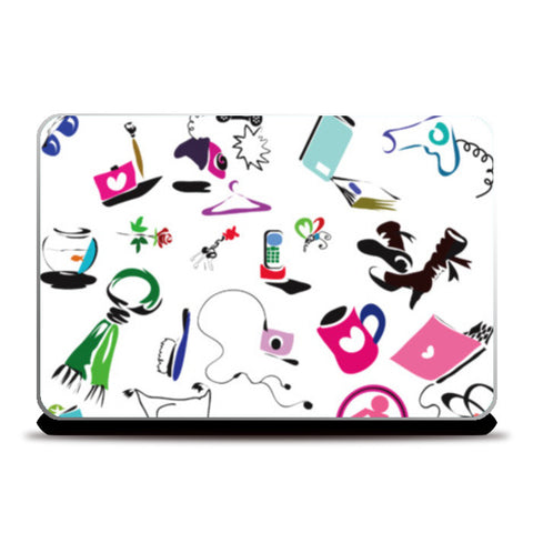 working women Laptop Skins | Artist : amit kumar